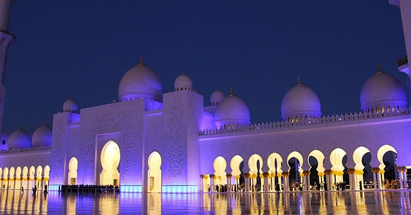 Sheikh Zayed Mosque Night