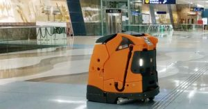 robots used to clean dubai metro stations