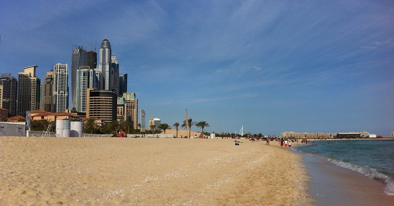 The JBR Beach Dubai